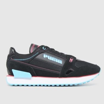 PUMA Black Mile Rider Power Play Womens Trainers