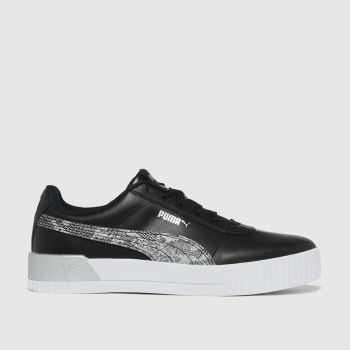 PUMA Black Carina Untamed Womens Trainers