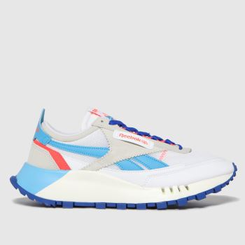 Reebok White & Blue Cl Legacy Womens Trainers