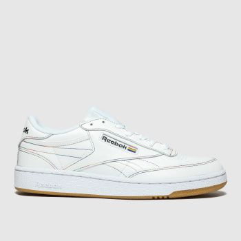 Reebok White CLUB C 85 PRIDE Trainers
