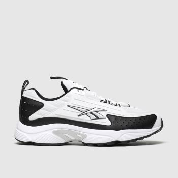 Reebok White & Black Dmx Series 2k Trainers