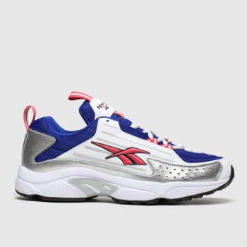 Reebok White & Silver Dmx Series 2k Womens Trainers
