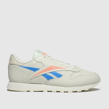 Reebok White & Orange Classic Leather Womens Trainers