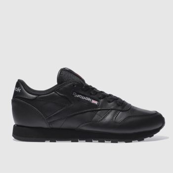 Reebok Black Classic Leather Womens Trainers#