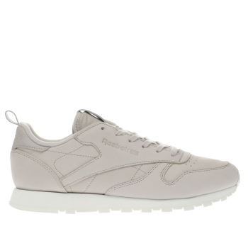 REEBOK SANDSTONE CLASSIC LEATHER TRAINERS