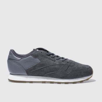 Reebok Grey Classic Leather Womens Trainers