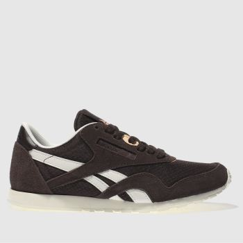 Reebok Burgundy Classic Nylon Slim Womens Trainers