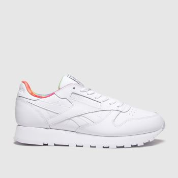 Reebok White Classic Leather Pride Womens Trainers#