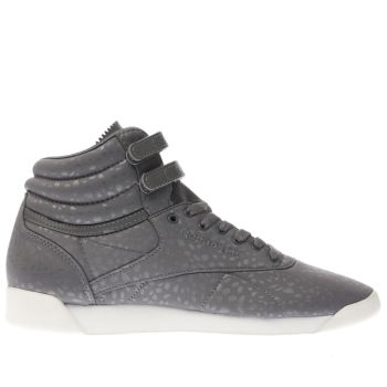 Reebok Grey Freestyle Hi Lux Textile Womens Trainers
