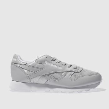 Reebok Grey Classic Leather Fbt Womens Trainers