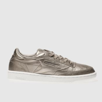 Reebok Bronze Club C 85 Leather Pearl Womens Trainers