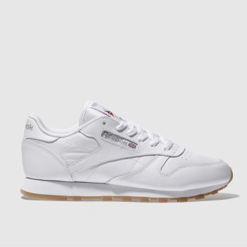 Reebok White Classic Leather Womens Trainers