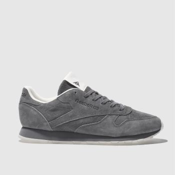 REEBOK DARK GREY CLASSIC LEATHER TONAL NBK TRAINERS
