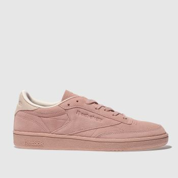 Reebok Pink Club C 85 Nubuck Womens Trainers