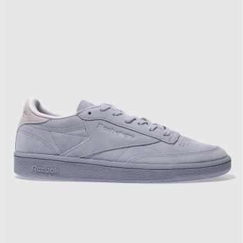 Reebok Lilac Club C 85 Nubuck Womens Trainers