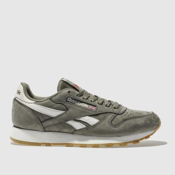 Reebok Khaki CLASSIC LEATHER NUBUCK Trainers