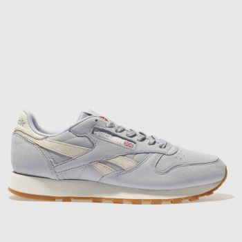 Reebok Pale Blue Classic Leather Nubuck Womens Trainers