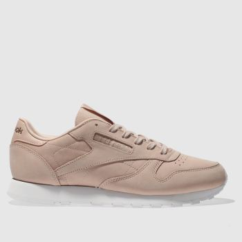Reebok Natural Classic Leather Nubuck Womens Trainers