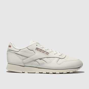 Reebok White   Gold Classic Leather Womens Trainers 4d22322be