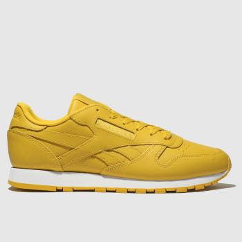 Reebok Yellow Classic Leather Womens Trainers