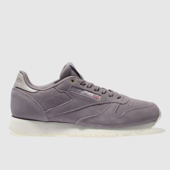 Reebok Lilac Classic Leather Womens Trainers