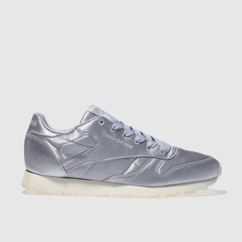Reebok Lilac Classic Leather Satin Womens Trainers