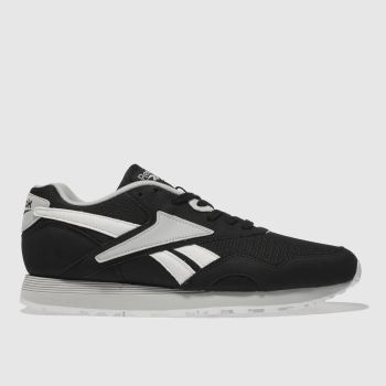 REEBOK BLACK & WHITE RAPIDE TRAINERS