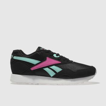 Reebok Black & pink Rapide Womens Trainers