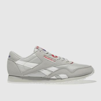 Reebok Light Grey Classic Nylon Womens Trainers