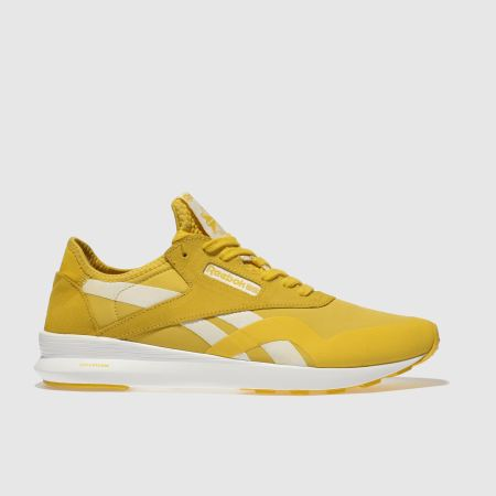 womens yellow reebok classic nylon sp trainers  671d3fe58