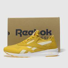 479679f611c womens yellow reebok classic nylon sp trainers