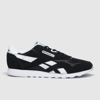 Reebok Black & White Classic Nylon c2namevalue::Womens Trainers