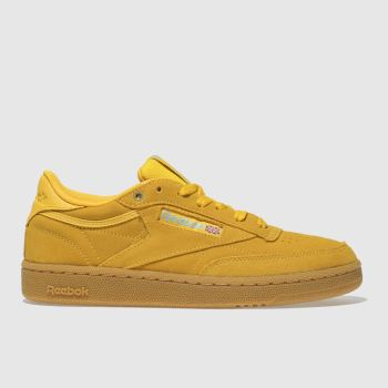 REEBOK YELLOW CLUB C 85 FVS GUM TRAINERS