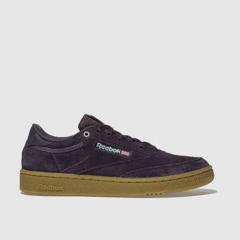 4787fea25608 Reebok Purple Club C 85 Fvs Gum Womens Trainers