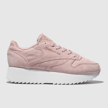 Reebok Pale Pink Classic Leather Double Womens Trainers