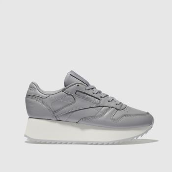 Reebok Dark Grey Classic Leather Platform Womens Trainers