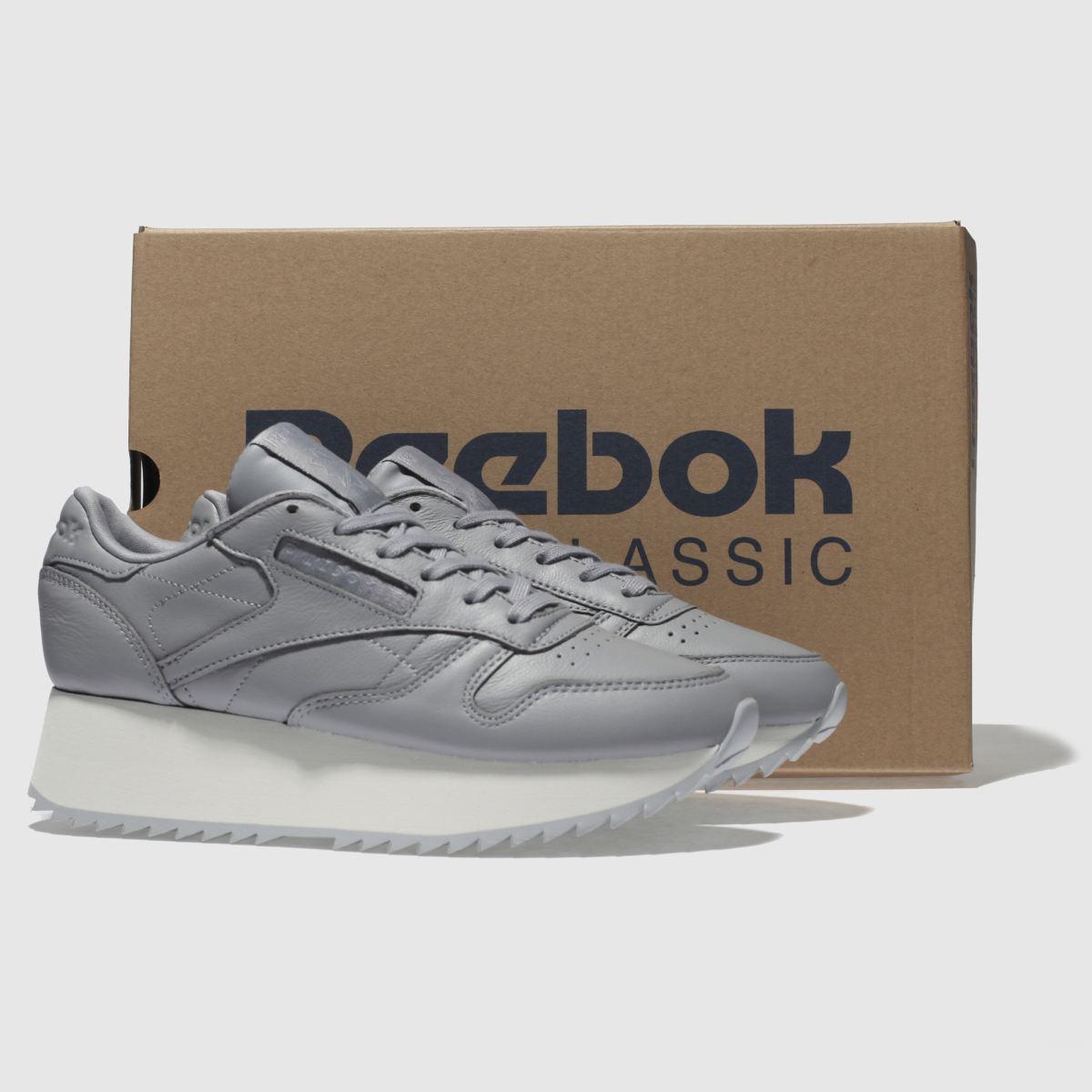 Damen Dunkelgrau reebok Classic Leather Platform Sneaker beliebte | schuh Gute Qualität beliebte Sneaker Schuhe 981111