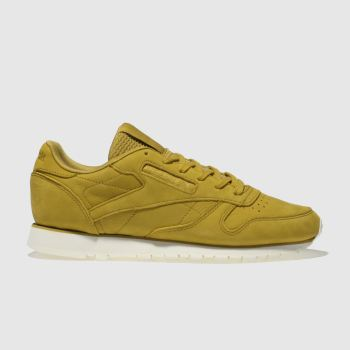 REEBOK YELLOW CLASSIC LEATHER NUBUCK TRAINERS