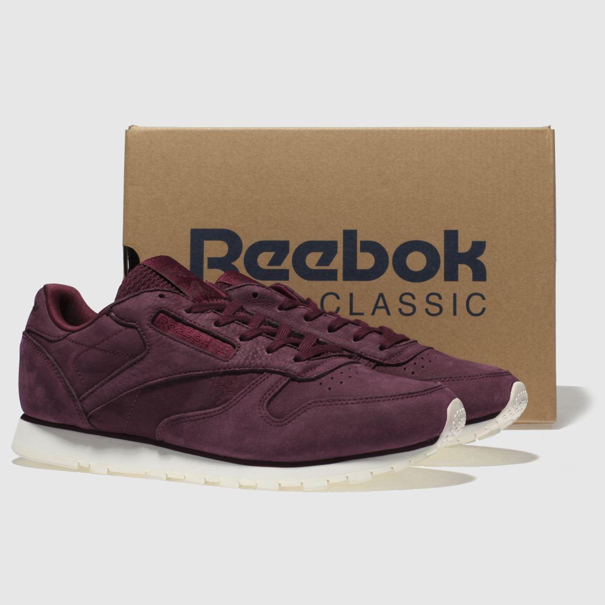 Damen Weinrot reebok | Classic Leather Nubuck Sneaker | reebok schuh Gute Qualität beliebte Schuhe cd8be6