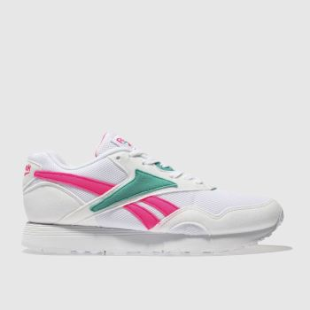 Reebok White & Green Rapide Mu Womens Trainers