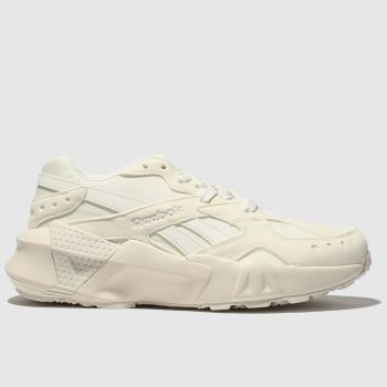 Reebok White & Beige Aztrek Double Womens Trainers