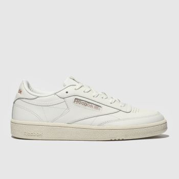 29c0ecb4a903 Reebok Natural Club C 85 Leather Womens Trainers
