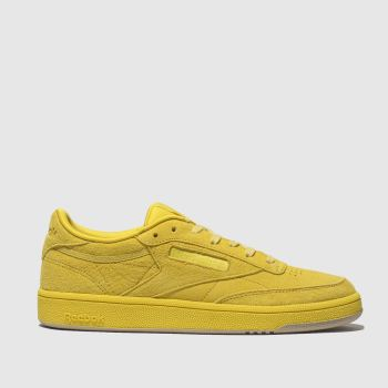 REEBOK YELLOW CLUB C 85 SUEDE TRAINERS