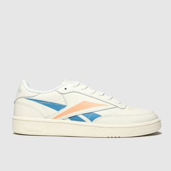 Reebok White & Orange Club C 85 Womens Trainers