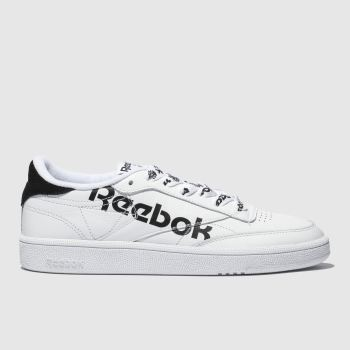 Reebok White & Black Club C 85 Womens Trainers