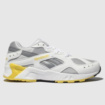 REEBOK WHITE & YELLOW AZTREK TRAINERS