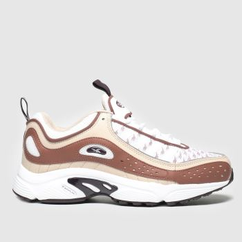 Reebok Beige & Red Daytona Dmx Ii Womens Trainers