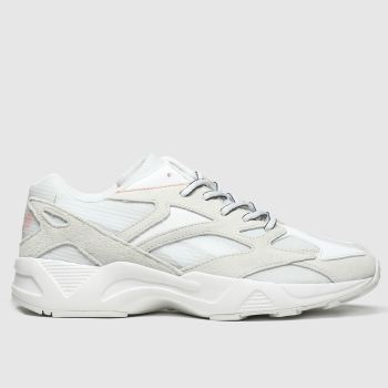 reebok white & grey aztrek 96 translucent trainers