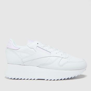 Reebok White Club Leather Double Womens Trainers