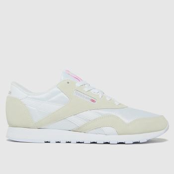 Reebok White Cl Nylon Womens Trainers